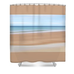 Jersey Coast Seascape Abstract Shower Curtain by Gill Billington