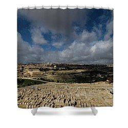 Jerusalem From Mount Of Olives Shower Curtain