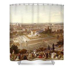 Jerusalem In Her Grandeur Shower Curtain by Henry Courtney Selous