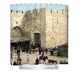 Jerusalem: Jaffa Gate Shower Curtain by Granger