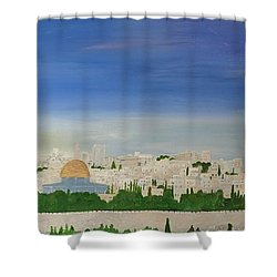 Jerusalem Skyline Shower Curtain