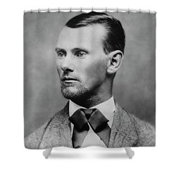 Jesse James -- American Outlaw Shower Curtain by Daniel Hagerman