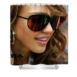 Jessica Alba, Cool Shades Shower Curtain