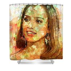 Jessica Alba Shower Curtain