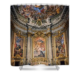 Shower Curtain featuring the photograph Jesuit Church Rome Italy by Joan Carroll