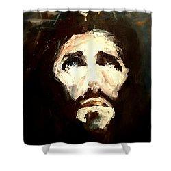 Jesus - 2 Shower Curtain by Jun Jamosmos