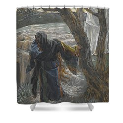 Jesus Appears To Mary Magdalene Shower Curtain by Tissot