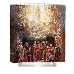 Jesus Ascending Into Heaven Shower Curtain by William Brassey Hole