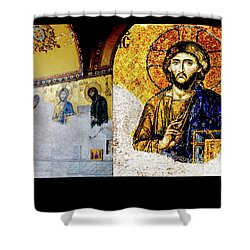 Jesus Christ, Pantocreator Shower Curtain