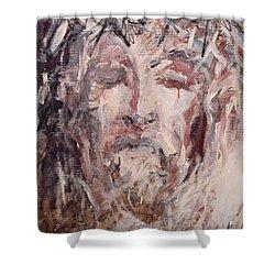 Jesus Christ Shower Curtain by Pierre Van Dijk