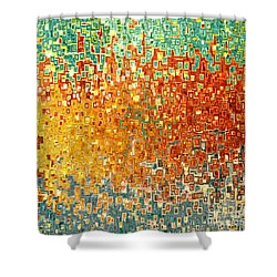 Jesus Christ Seed Of Woman Shower Curtain by Mark Lawrence