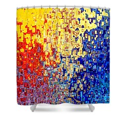 Jesus Christ The Light Of The World Shower Curtain by Mark Lawrence