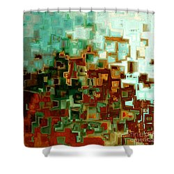 Jesus Christ The Messiah Shower Curtain by Mark Lawrence