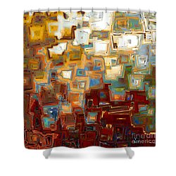 Jesus Christ The Mighty One Shower Curtain by Mark Lawrence