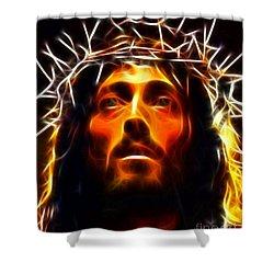Jesus Christ The Savior Shower Curtain by Pamela Johnson