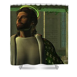 Jesus Shower Curtain by Corey Ford
