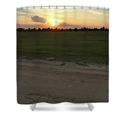 Jesus Healing Sunset Shower Curtain
