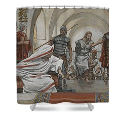 Jesus Led From Herod To Pilate Shower Curtain by Tissot