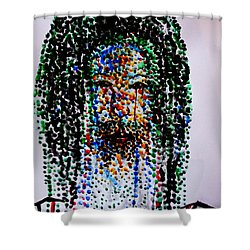 Jesus Lion Of Judah Shower Curtain by Gloria Ssali