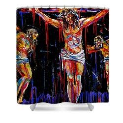 Jesus Of Nazareth Shower Curtain by Debra Hurd