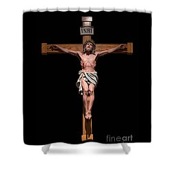 Jesus, Savior Of The World Shower Curtain by Bonnie Barry