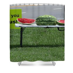Jesus Watermelon Shower Curtain