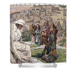 Jesus Wept Shower Curtain by Tissot