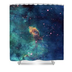 Shower Curtain featuring the photograph Jet In Carina by Marco Oliveira