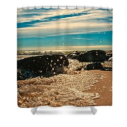 Jetty And Incoming Tide Shower Curtain