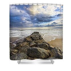 Jetty Four Cloudscape Shower Curtain