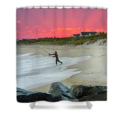 Jetty Four Fisherman Shower Curtain