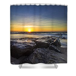 Jetty Four Sunrise Shower Curtain