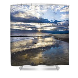 Jetty Four Sunset Shower Curtain
