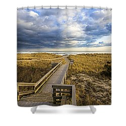 Jetty Four Walkway Shower Curtain