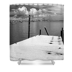 Jetty, Rhos-on-sea Shower Curtain