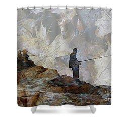 Jetty Shower Curtain by Robert Ball