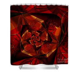 Jewel Shower Curtain by Michelle H