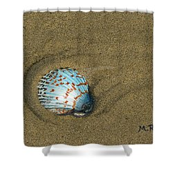 Jewel On The Beach Shower Curtain by Mike Robles