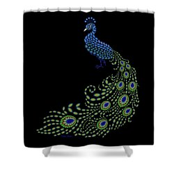 Jeweled Peacock Shower Curtain