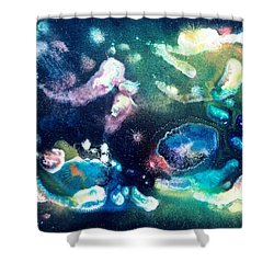 Jeweled Pegasus Shower Curtain by Lee Pantas