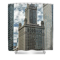 Jewelers Building Chicago Shower Curtain by Alan Toepfer
