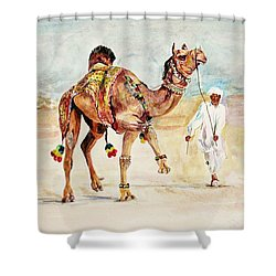 Jewellery And Trappings On Camel. Shower Curtain