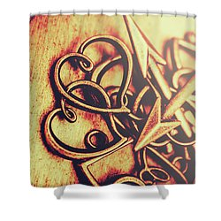 Jewelry Love Background Shower Curtain