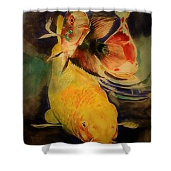 Jewels Of Lakes. Shower Curtain