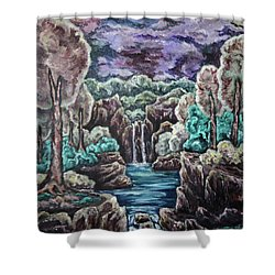 Jewels Of The Valley Shower Curtain by Cheryl Pettigrew