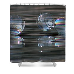 Shower Curtain featuring the photograph Jewels On The Water by Cathie Douglas