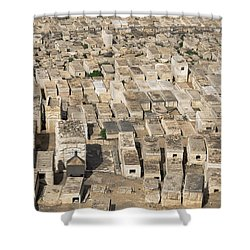 Jewish Cemetery On Mount Of Olives Shower Curtain