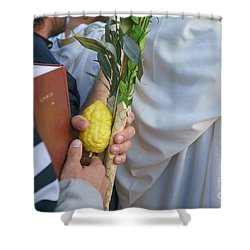 Jewish Sunrise Prayers At The Western Wall, Israel 12 Shower Curtain