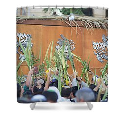 Jewish Sunrise Prayers At The Western Wall, Israel 4 Shower Curtain