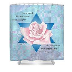 Jewish Wedding Blessing Shower Curtain